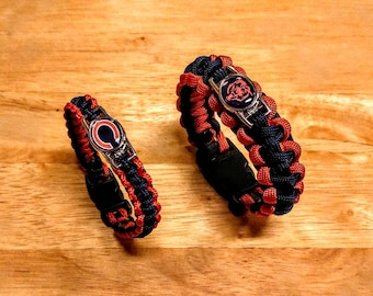 Chicago Bears inspired Paracord Bracelet