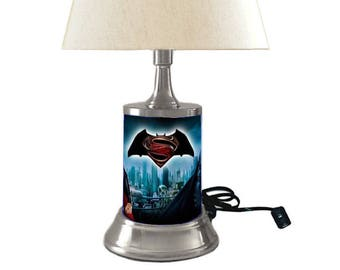 Superman and Batman Lamp with shade