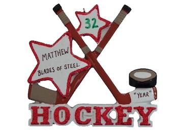 Ice Hockey Personalized Christmas Ornament - Ice Hockey Ornament - Personalized Hockey Ornament