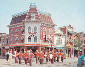 Vintage 1955 Disneyland Postcard Anaheim, California, Walt Disney Production #B4V