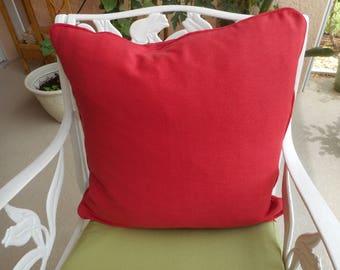 """Raspberry Cotton Throw Pillows, size 19x19"""" Qty-2 ea; 35.00 ea"""