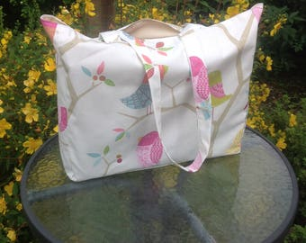Large beach bag, bag for life,handmade in quality fabrics, large tote  bag,