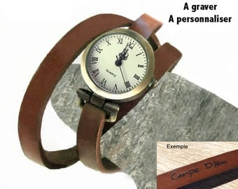 Woman watch personalized, engraved gift for her