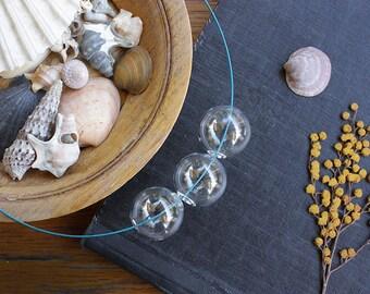 Bubble necklace, glass necklace