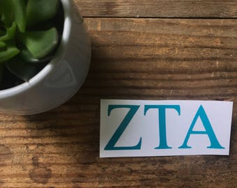 Zeta Tau Alpha Vinyl Sticker