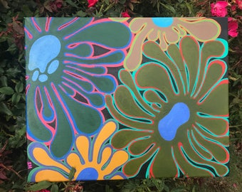 Flower Power- acrylic painting/ SOLD (message me for commission)