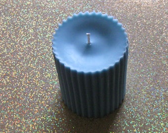 """3"""" x 4"""" Soy Pillar Candle/Pillar Candle/Candle Pillars/Fluted Pillar Candle/Soy Candles Handmade/Choose Your Scent"""