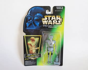 Star Wars Action Figure, Vintage Star Wars Figure, Star Wars 2-1B Medic Droid, Sealed Star Wars Action Figure, POTF Kenner Toys 1996, NOS