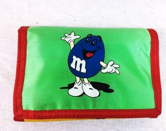 Vintage M&M Wallet - M and M Collectible - Chocolate Candy