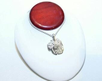 Sterling silver Jesus pendant