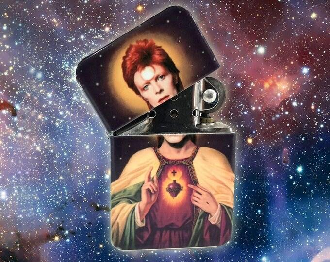 Lighter, Sacred heart, space odyssey, David Specht, Retro lighter, Cigar, Flip Lighter, Gift for Him, Fathers Day