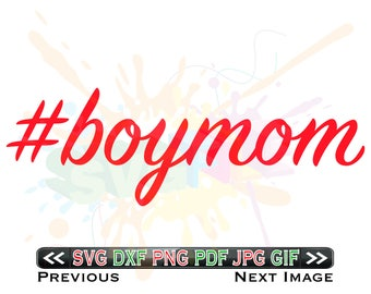 Boy Mom SVG Files for Cutting Hashtag Cricut Boymom Designs - SVG Files for Silhouette - Instant Download