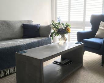 Polished Concrete Coffee Table
