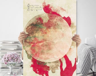 Boho Art Printable - Modern Minimalist Tree Art Print - Printable Art - Tree Wall Art - Meditation Art - Bohemian Art Print