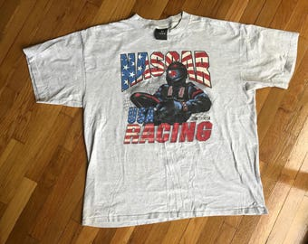 Vintage 1996 NASCAR Winston Cup Series T-Shirt Size XL Extra-Large Made in USA Graphic