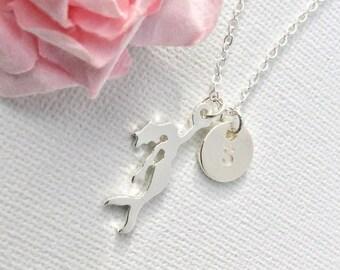 VACATION SALE Silver mermaid necklace, mermaid necklace, mermaid jewellery, mermaid pendant, mermaid gift, silver mermaid