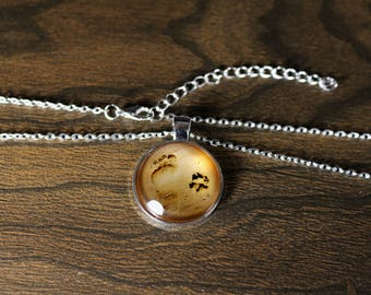 Footprints in the Sand Best Friends Charm Necklace