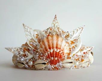 Mermaid Crown, Seashell Crown, Mermaid Costume, Mermaid Party, Beach Wedding, Boho Headdress, Festival Crown, Beach Photos