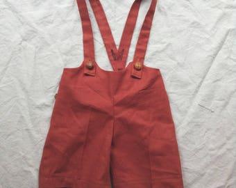 Suspender Shorts Kids PDF Pattern