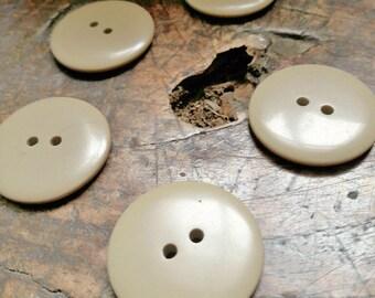 Vintage french buttons, light coffee colour buttons, blouse buttons, unusual buttons,  boutons fleurs,gold colour buttons, 5 pce set buttons