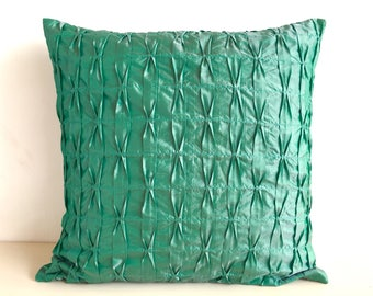 18x18 Green Pillow Cover Green Pillow Green Decorative Pillows For Couch 2 tone Green Cushion Green Home Decor