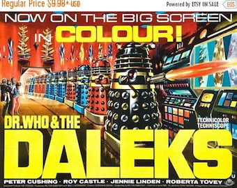 Back to School Sale: DR. WHO And The DALEKS Movie Poster 1965