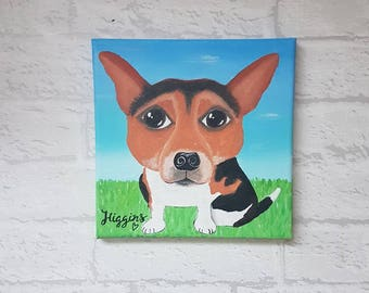 Personalised Caricature Dog Painting - Acrylic Painting on canvas - Dog Painting