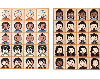 Avatar and Legend of Korra Emote Stickers