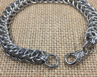 Aluminum Chainmaille handcuff Bracelet