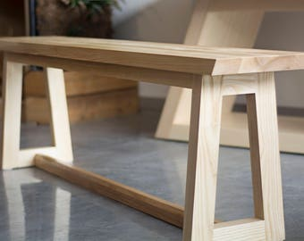 Dining Table Bench U2013 Wooden Bench Seat For Dining Table In Ash Wood