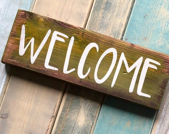 welcome sign rustic welcome sign cottage decor cottage sign cottage wall decor rustic decor beach house decor rustic country cottage sign