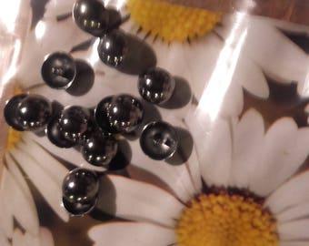 Set of 8 buttons brass shape cabochon