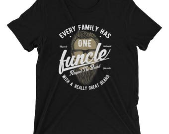 Funcle With A Great Beard | The Fun Uncle T-shirt For Men Short sleeve t-shirt