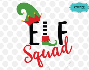 elf squad svg, elf svg, santa svg, funny christmas svg, merry christmas svg, svg elf, holiday svg, elf dxf, christmas elf svg       cr114