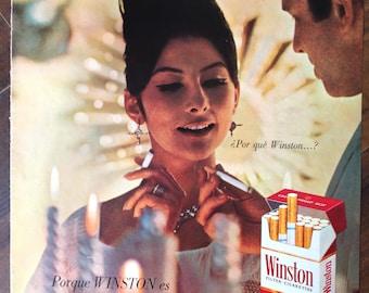 Cigarettes «Winston» Vintage Ad