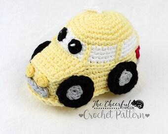 Crochet Pattern - Car crochet pattern - car amigurimi pattern - crochet car pattern - bath scrubby pattern - Bath Toy  - instant download