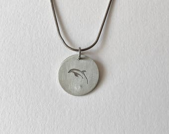 Dolphin Pendant Necklace-Dolphin Jewelry