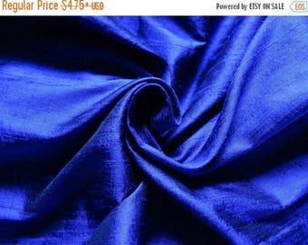 10% OFF Pure Silk Fabric, Pure Dupioni Silk Fabric, Silk Fabric, Indian Silk Fabric, Blue Silk Fabric
