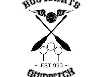 Hoqwarts, Gryffindor, Hufflepuff, Ravenclaw, and Slytherin Quidditch Svg