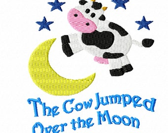The Cow Jumped Over the Moon -A Machine Embroidery Design for Children