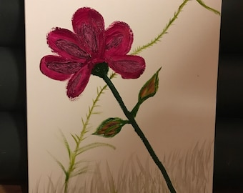 1 of 1 Untitled Flower Painting