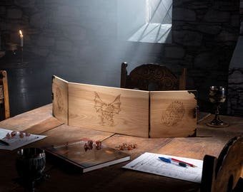 Wooden Game Master Screen - 0425