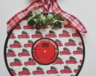 Little Red Truck - Christmas Wreath