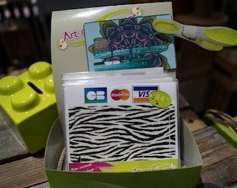 Blue Zebra card stickers