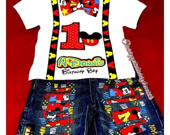 Disney Shirt, Mickey Mouse Birthday Outfit, Mickey Mouse Clubhouse, 1st birthday, Mickey Mouse Set, Mickey Mouse Outfit, Mickey Mouse Shoes