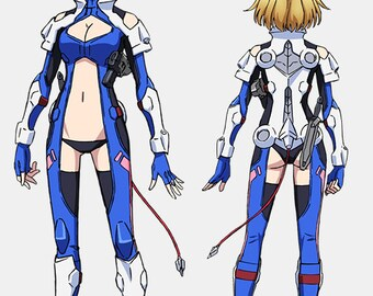 Custom Order for Samantha Scriver - Angelise Ikaruga Misurugi Cross Ange Anime Manga Cosplay Costume Accessories