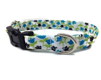 Extra Small dog collar, Toy Dog collar, Chihuahua dog collar, floral dog collar, tiny dog collar, yorkie dog collar, girl dog collar