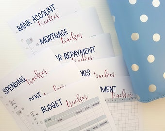 A5 BUDGET | FINANCE planner bundle | printed planner inserts | planner refill | A5 inserts large kikki k filofax refill | budget planner