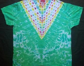 rainbow v neck tie dye shirt