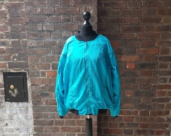 Vintage 1980s Windbreaker Jacket | Retro Bomber Jacket